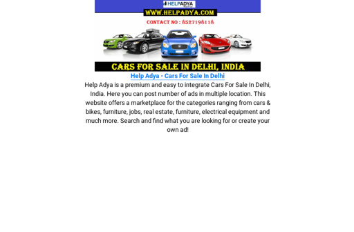 Cars For Sale In Delhi