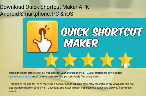 Download Quick Shortcut Maker APK Android Smartphone, PC & iOS