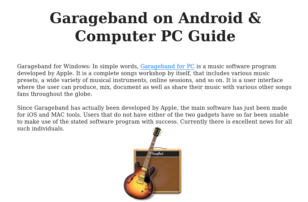 Garageband On Android Computer Pc Guide
