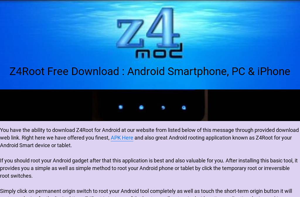 Z4Root Free Download : Android Smartphone, PC & iPhone