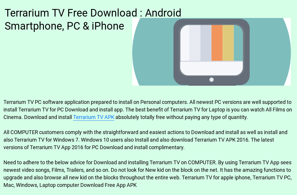 Terrarium Tv Free Download Android Smartphone Pc Iphone By