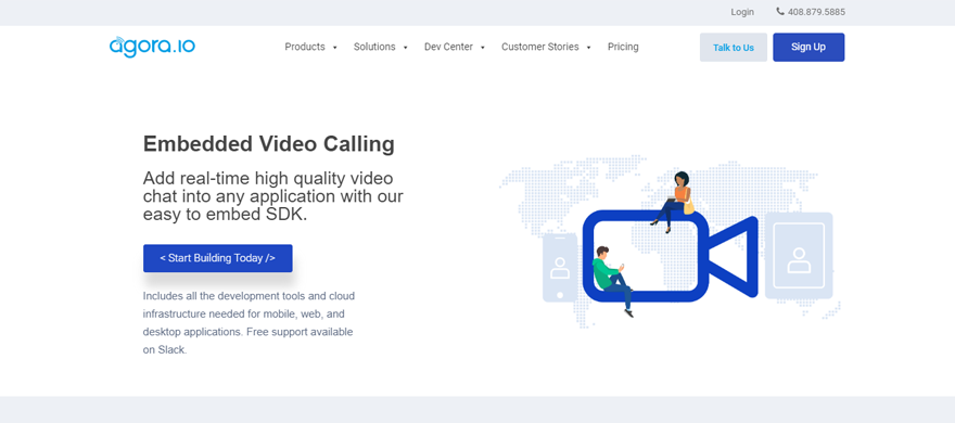 embed video call on website