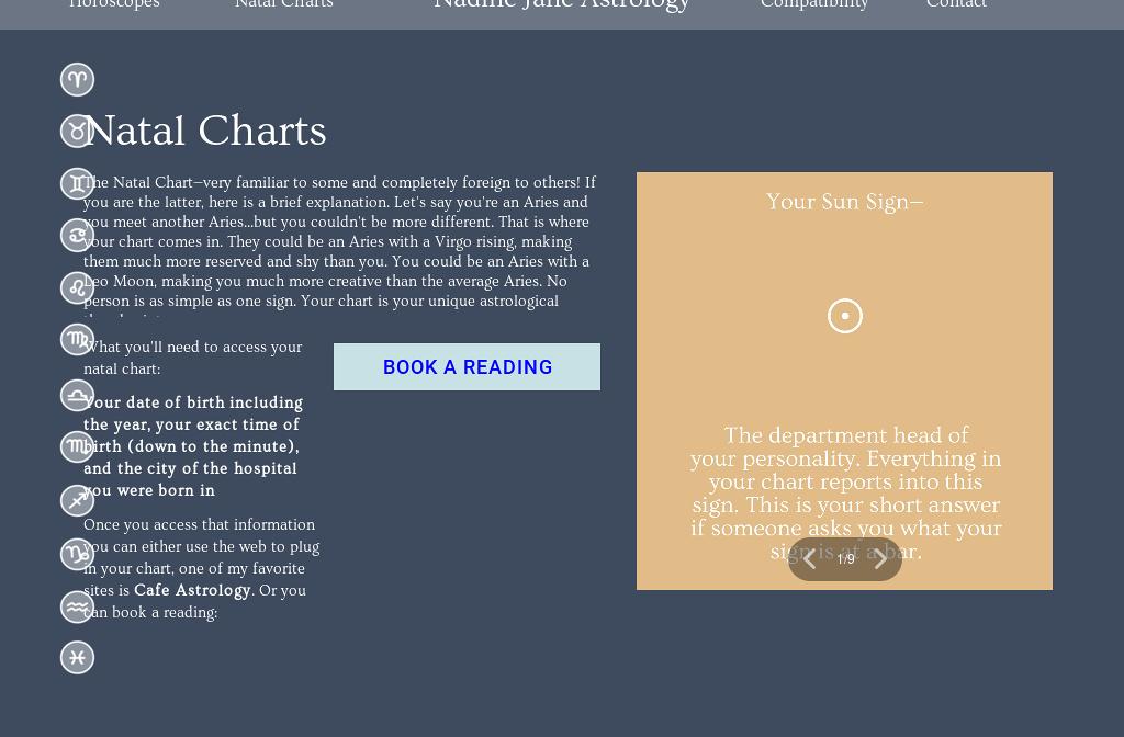 Nadine Jane Astrology Natal Chart