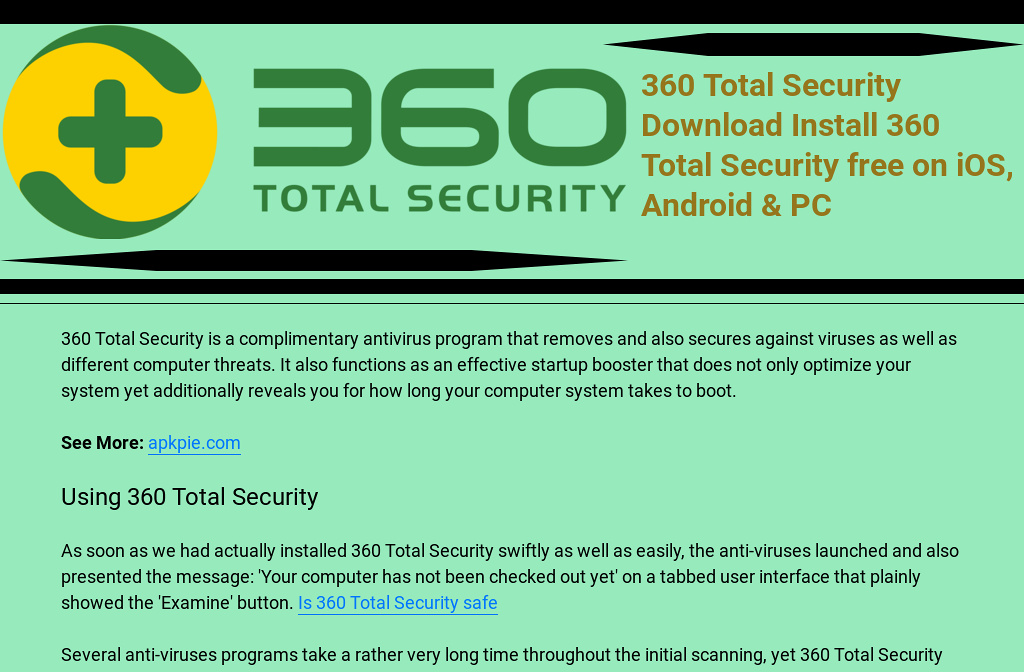 download 360 antivirus software for pc
