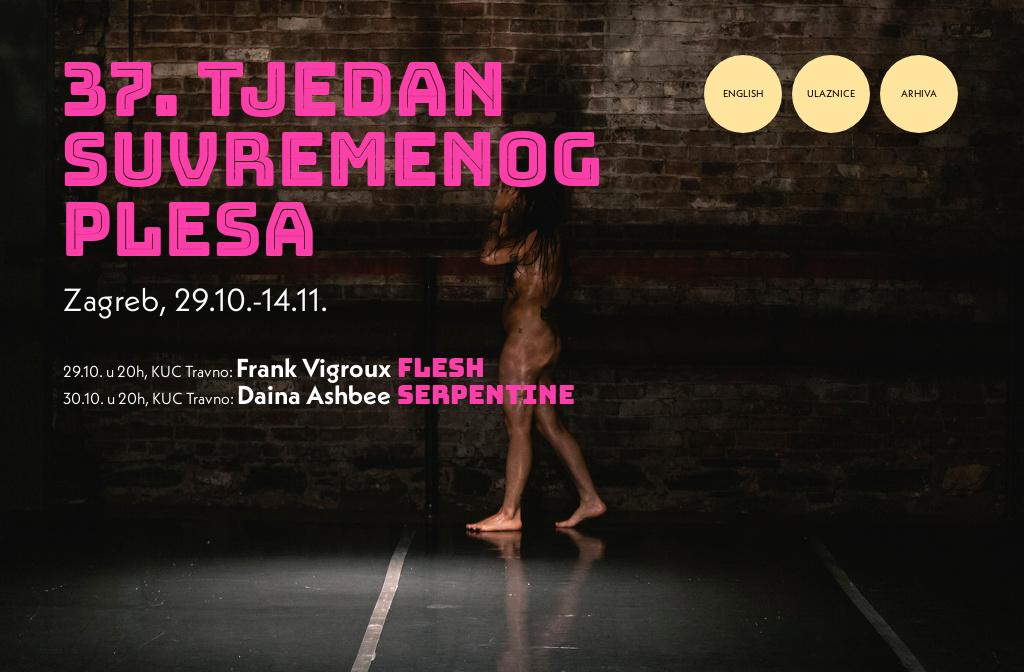 37. Tjedan suvremenog plesa u Zagrebu