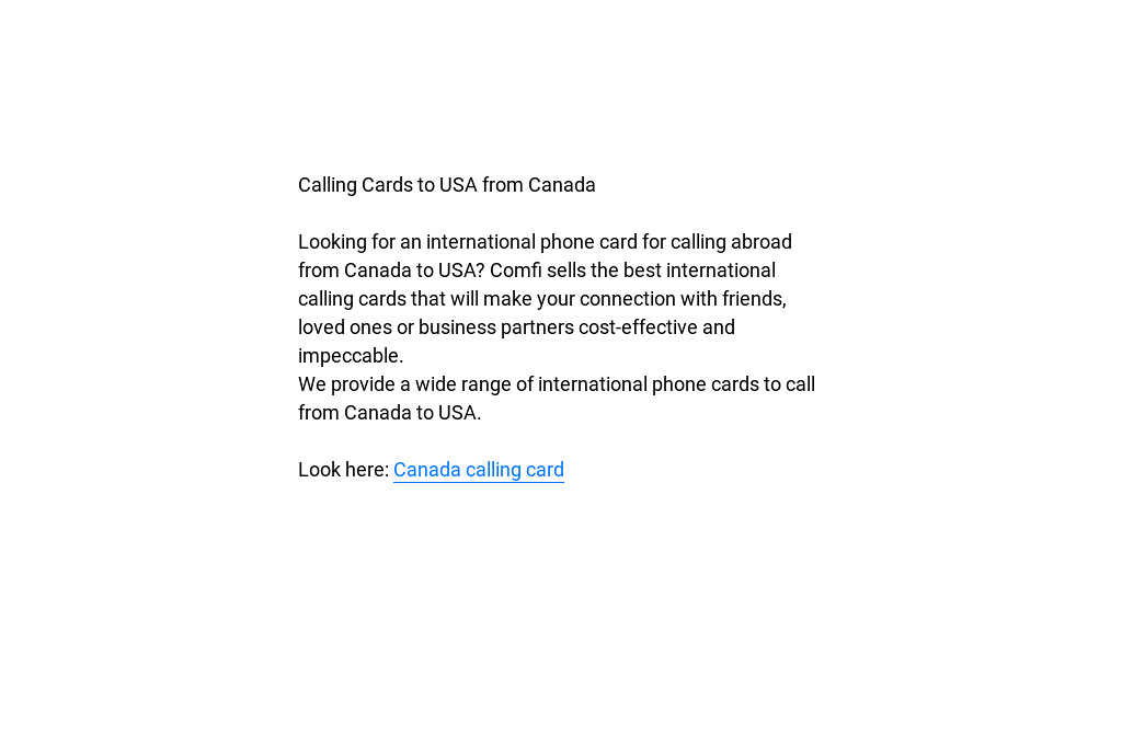 canada calling card by cody saymon readymag - Best International Calling Cards