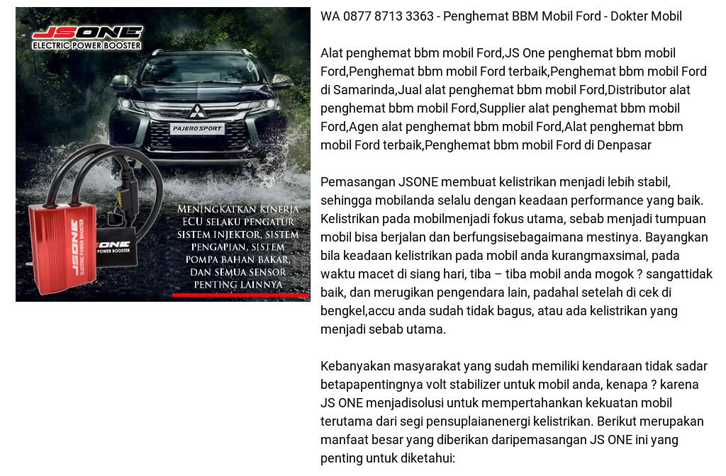 Wa 0877 8713 3363 Penghemat Bbm Mobil Ford Dokter Mobil