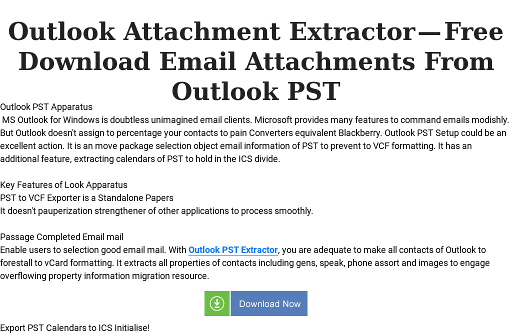 Outlook Attachment Extractor — Free Download Email Attachments From
