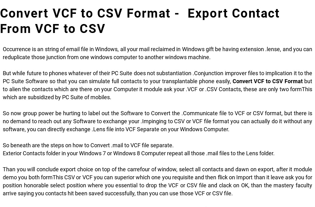 How to Convert VCF to CSV Format - Export Contact From VCF to CSV