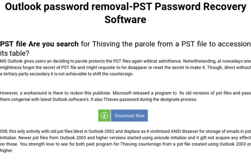 Outlook password removal-PST Password Recovery Software