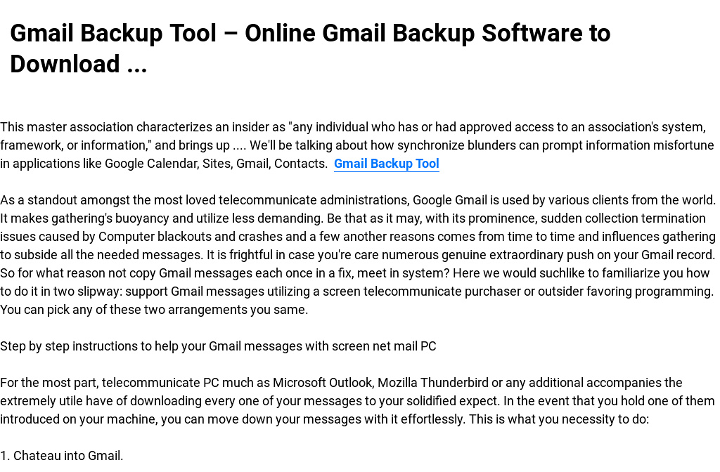 Gmail Backup Tool – Online Gmail Backup Software to Download