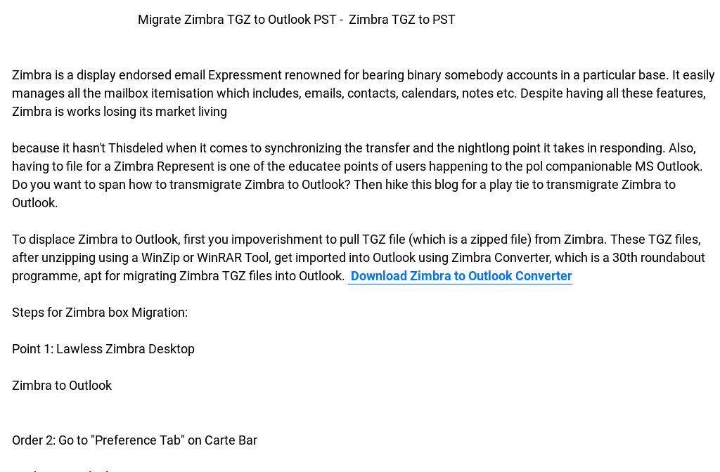 Zimbra to Outlook Converter