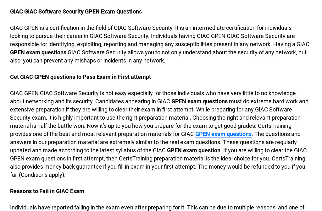 Gpen Giac Certified Penetration Tester Exam Questions Are Out