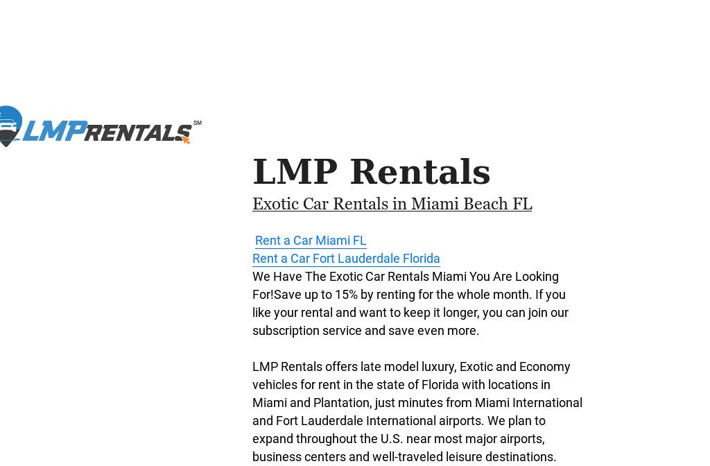 Lmp Rentals