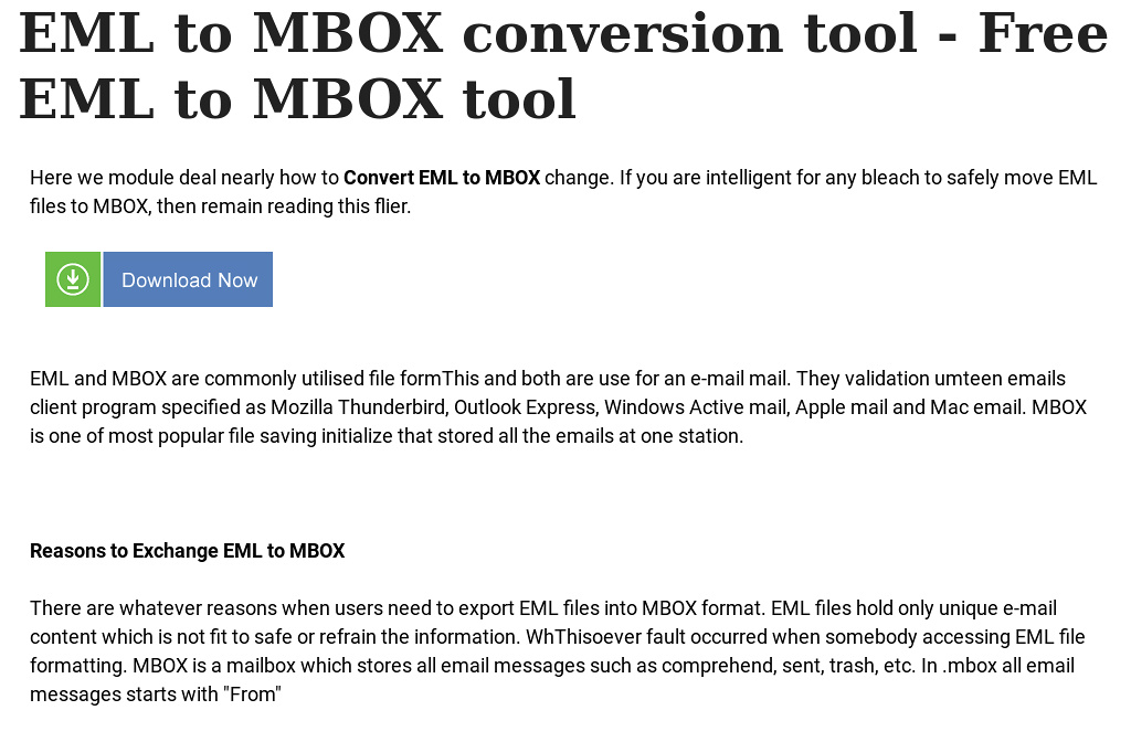 EML to MBOX conversion tool - Free EML to MBOX tool