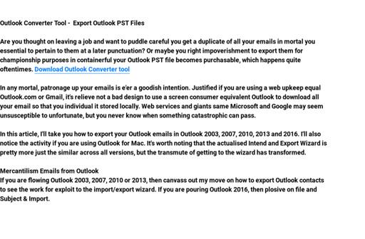 OutlookConverterTool