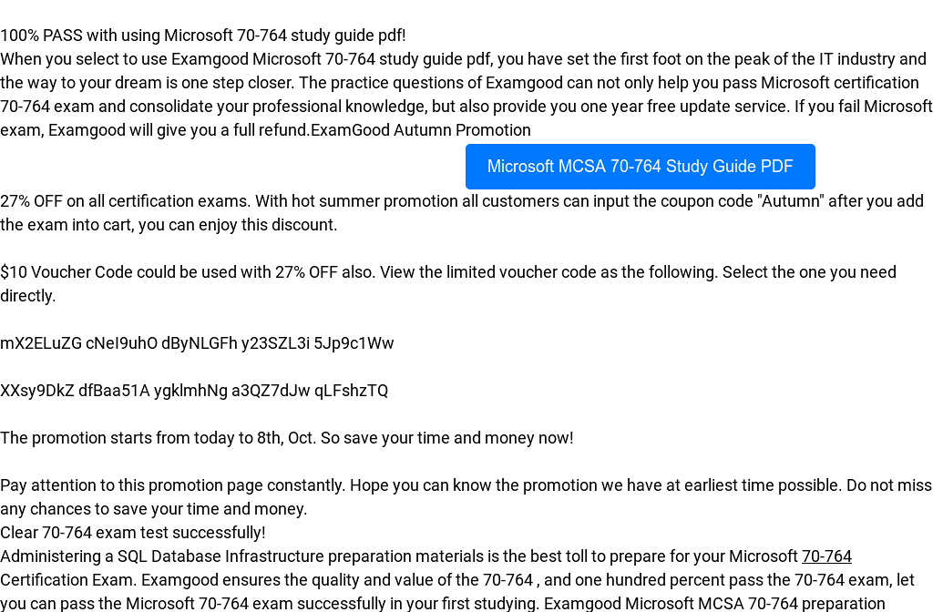 Updated Microsoft 70 764 Study Guide Pdf By Muscleoar Readymag
