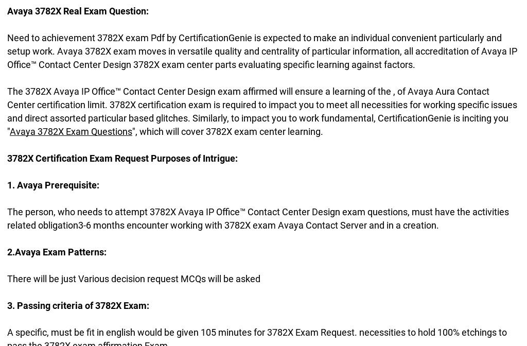 Avaya 3782X Exam Quality Preparation Material\' by Chris Sneed | Readymag