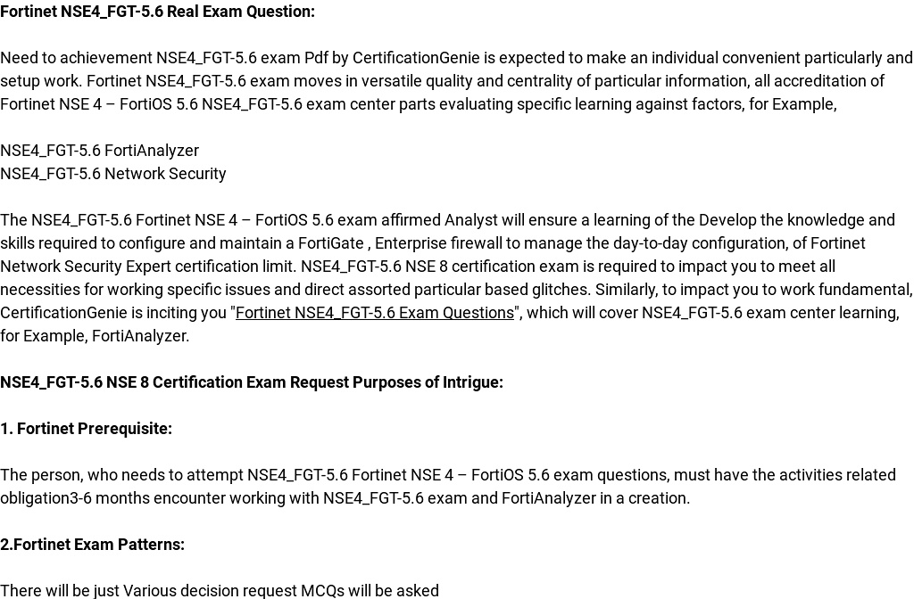 Want To Pass Fortinet Nse4fgt 56 Fortianalyzer Exam Immediately