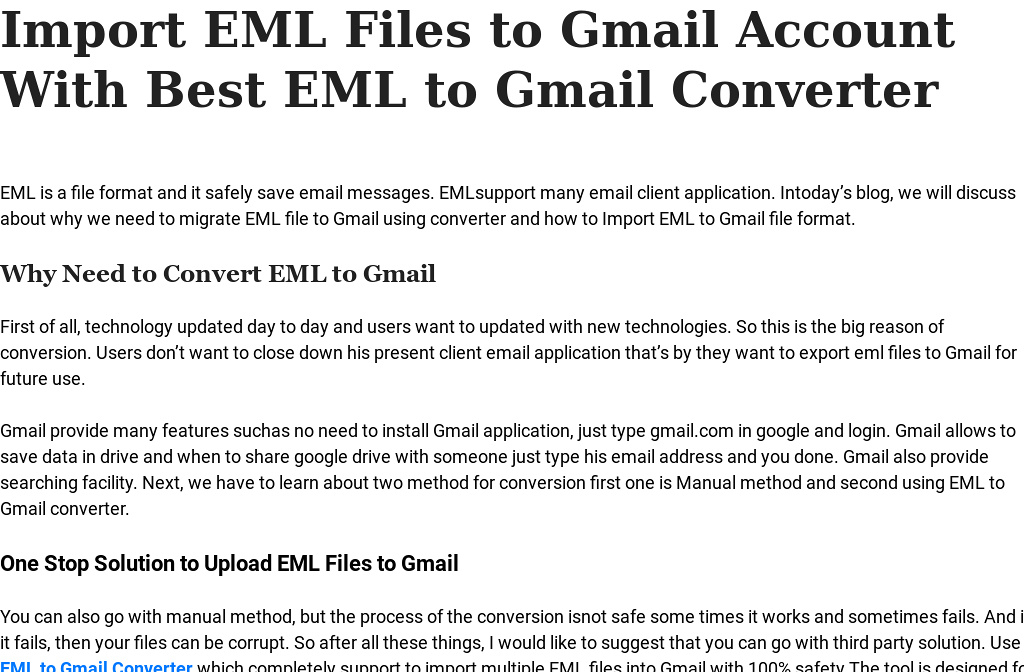 Import EML Files to Gmail Account With Best EML to Gmail Converter