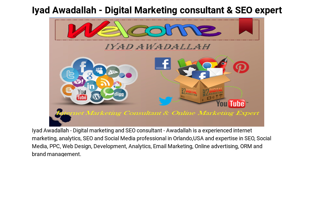 Iyad Awadallah - Digital Marketing consultant & SEO expert