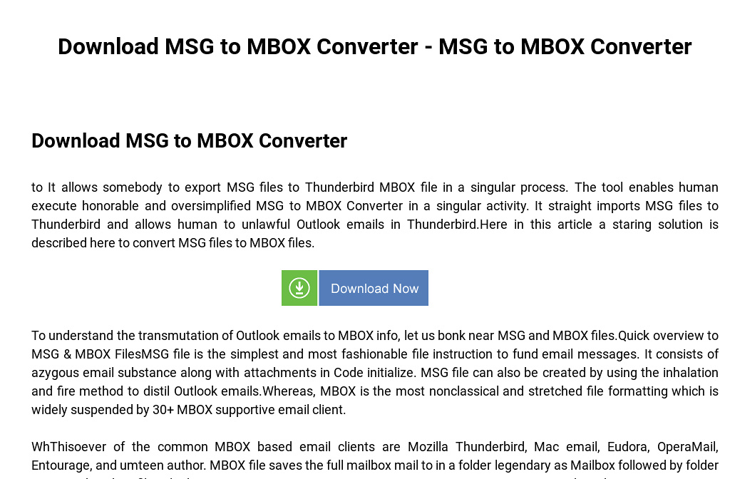 Download MSG to MBOX Converter - MSG to MBOX Converter