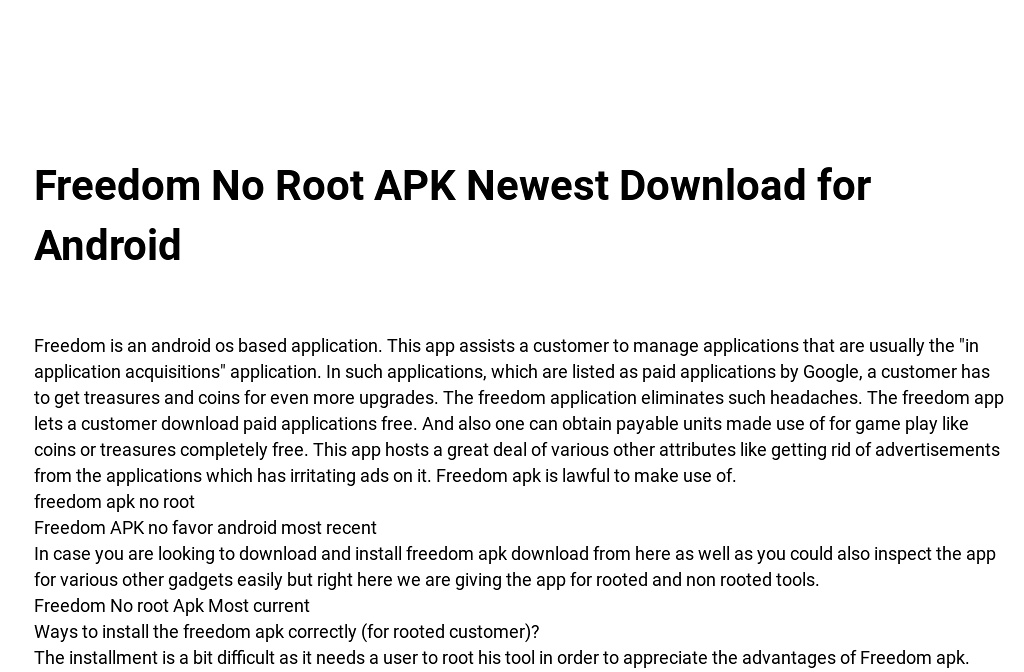 How to download freedom apk without root | Download Freedom Apk V5 4