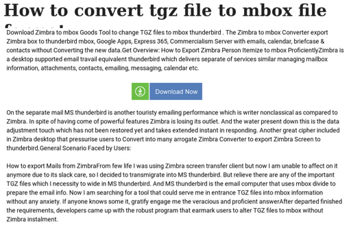 How to convert tgz file to mbox file format