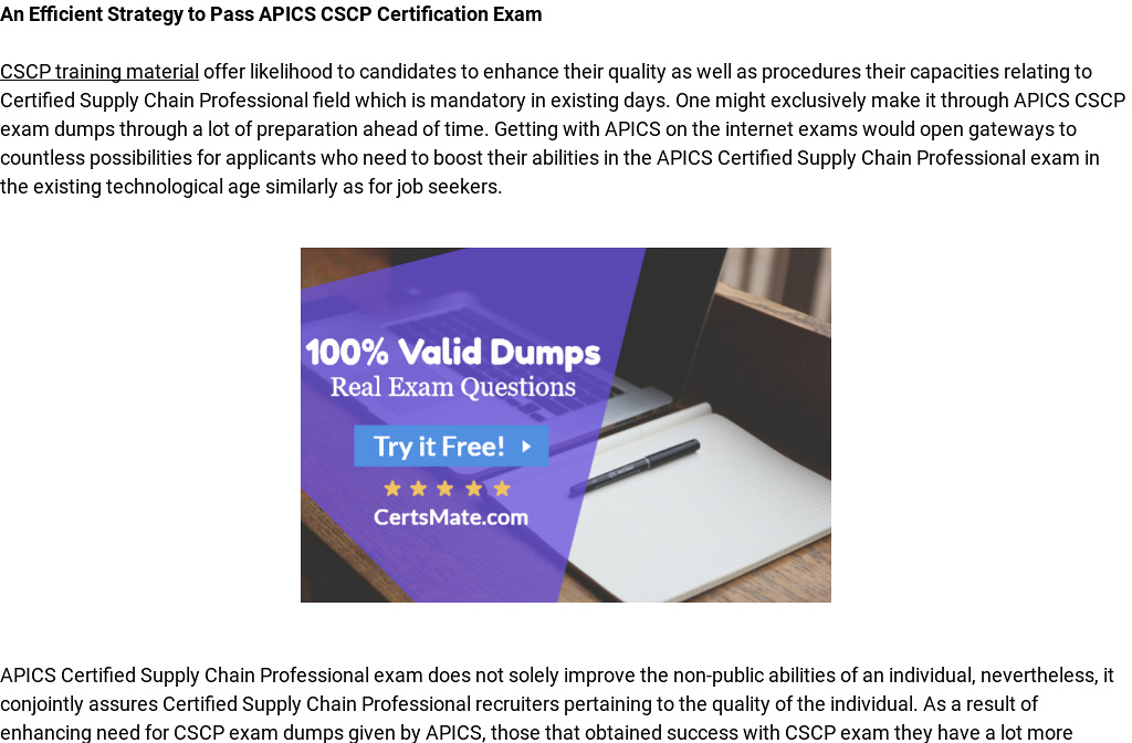 How You Can Pass Your Cscp Exam With Cscp Dumps