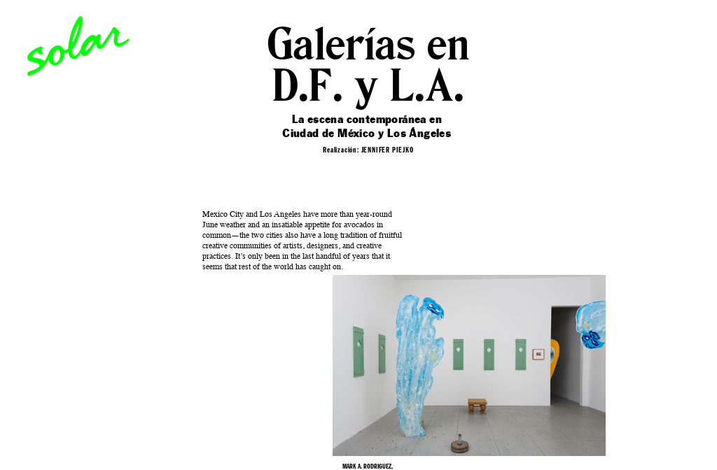 Galeries in D F  and L A
