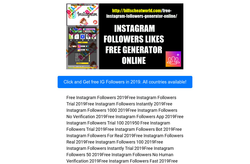 Free Trial Instagram Followers And Likes | Free Instagram