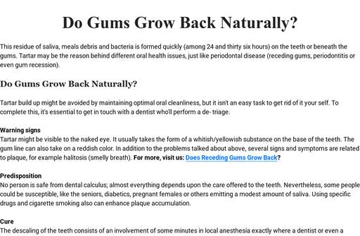 Do Gums Grow Back Naturally?