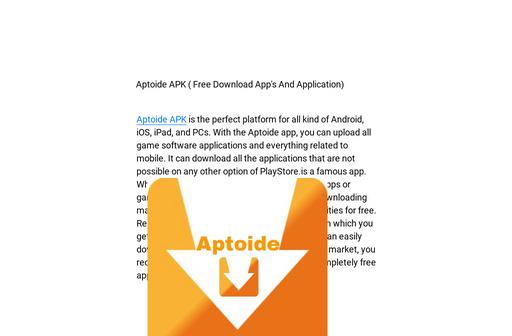 Aptoide For Ipad